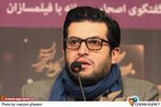 علی کریم کارگردان در  نشست فیلم «من عاشق سپیده صبحم» در جشنواره فیلم فجر