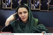 گلاب آدینه در نشست خبری تئاتر «سه گانه اورنگ» به کارگردانی محمد حاتمی