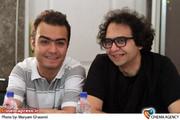 امیر کنجانی اجراگردان در نشست خبری  نمایش بی انتخاب