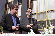 حسین علیزاده درمراسم تشییع پیکر جلیل شهناز هنرمند برجسته موسیقی