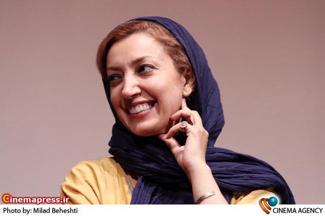 نگار عابدی در  نشست فیلم دنیای بهتر به کارگردانی بهروز شعیبی