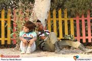 نمایی ازپشت صحنه فیلم «تنهای،تنهای ،تنها»به کارگردانی احسان عبدی پور