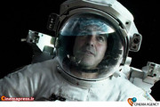 جرج کلونی در نمایی ازفیلم «جاذبه»پرفروش ترین فیلم سینماهای جهان