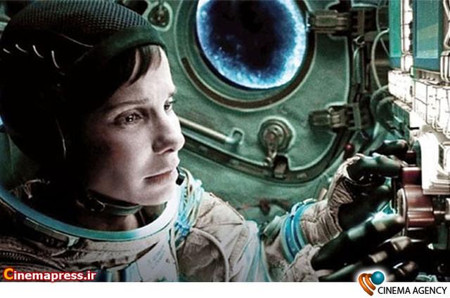 ساندرابولاک در نمایی ازفیلم «جاذبه»پرفروش ترین فیلم سینماهای جهان