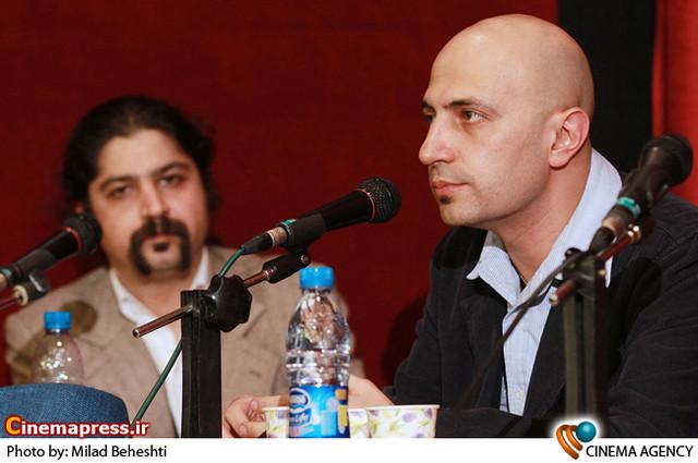 امیر پوریا در مراسم بزرگداشت «محمد علی سپانلو» در خانه هنرمندان