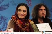 میترا حجار در نشست خبری فیلم «خط ویژه » در جشنواره فیلم فجر