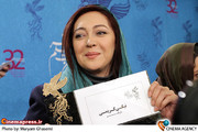 نیکی کریمی در نشست خبری فیلم «تمشک»در جشنواره فیلم فجر