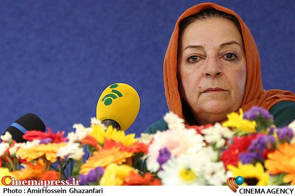 مرضیه برومند در نشست خبری جشنواره بین المللی نمایش عروسکی تهران-مبارک