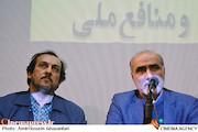 منوچهر محمدی و علیرضا رضاداد در نشست نسبت سینمای ایران و منافع ملی