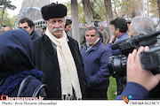 آتش تقی پور در تشییع پیکر مرحوم انوشیروان ارجمند