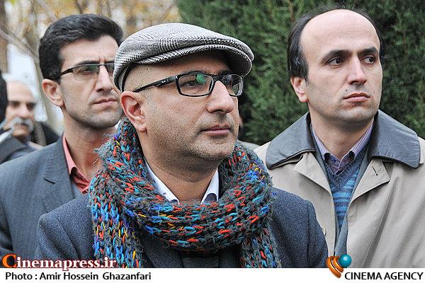 منصور ضابطیان در تشییع پیکر مرحوم انوشیروان ارجمند