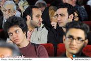 جمشید و نوید محمودی در اکران فیلم سینمایی«لامپ صد»