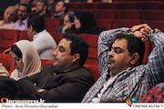 علی روئینتن و محمدرضا عباسیان در مراسم رونمایی از مجموعه آثار رسول صدرعاملی