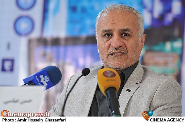 حسن عباسی در نشست خبری نخستین جشنواره مردمی بازیهای رایانهای عمار