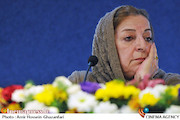 مرضیه برومند در نشست خبری شانزدهمین جشنواره نمایش عروسکی تهران-مبارک