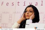 ساره بیات در نشست خبری فیلم سینمایی«عادت نمی کنیم»