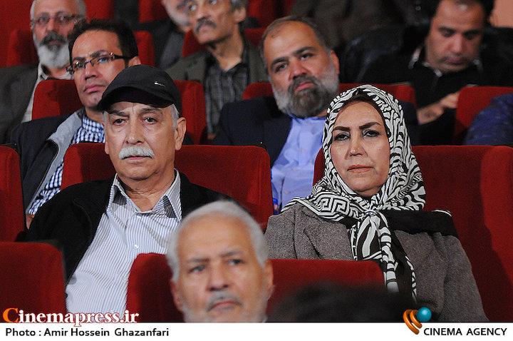 مهوش صبرکن و محمود پاک نیت در مراسم بزرگداشت مرحوم فرج الله سلحشور