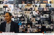 علی نیک رفتار در افتتاح نمایشگاه عکس دومین جشن عکاسان سینمای ایران