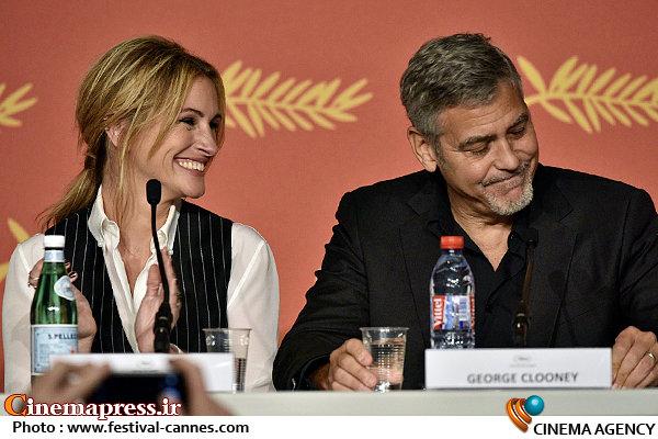 جرج کلونی و جولیا رابرتس در جشنواره فیلم کن ۲۰۱۶