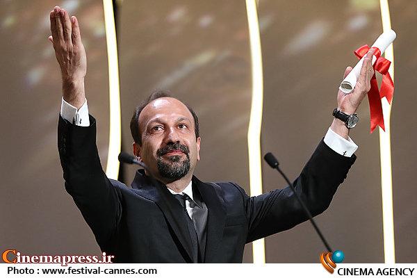 اصغر فرهادی در اختتامیه جشنواره فیلم کن ۲۰۱۶