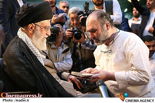 رضا برجی در محضر مقام معظم رهبری
