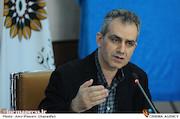 شهرام کرمی در نشست خبری پنجمین جشنواره تئاتر شهر