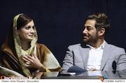 محمدرضا گلزار و دیا میرزا در نشست رسانه ای فیلم سینمایی «سلام بمبئی»