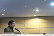سعید اسدی در رونمایی از پوستر سی و پنجمین جشنواره تئاتر فجر