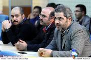 اتابک نادری در رونمایی از پوستر سی و پنجمین جشنواره تئاتر فجر
