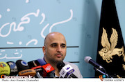 مسعود نجفی در نشست خبری سی و پنجمین جشنواره فیلم فجر
