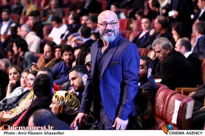 امیر آقایی در اختتامیه سی و پنجمین جشنواره فیلم فجر