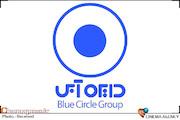 نمایش دایره آبی
