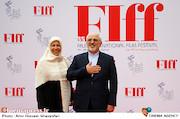 محمدجواد ظریف و همسرش در اختتامیه سی و پنجمین جشنواره جهانی فیلم فجر