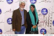 حسین پاکدل و عاطفه رضوی در  اکران خصوصی فیلم سینمایی ساعت ۵ عصر