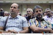 سیدجواد هاشمی و حسین فلاح در مراسم ترحیم زنده یاد حبیبالله کاسه ساز
