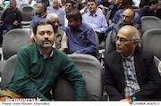 پرویز شیخ طادی و محمدرضا ورزی در مراسم ترحیم زنده یاد حبیبالله کاسه ساز