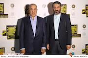 سیدعلی احمدی و محمود صلاحی در مراسم افتتاحيه ششمين جشنواره بينالمللی فيلم شهر