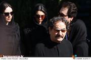 شهرام ناظری در مراسم تشییع پیکر مرحوم ناصر فرهودی