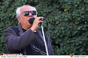 سیروس الوند در مراسم تشییع پیکر مرحوم ناصر فرهودی