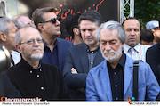مجید انتظامی در مراسم تشییع پیکر مرحوم ناصر فرهودی