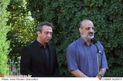 محمد اصفهانی در مراسم تشییع پیکر مرحوم ناصر فرهودی