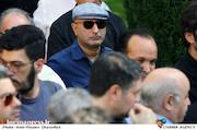 منصور ضابطیان در مراسم تشییع پیکر مرحوم ناصر فرهودی