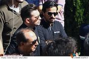 حسین سلیمانی در مراسم تشییع پیکر مرحوم ناصر فرهودی