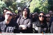 رضا تاجبخش در مراسم تشییع پیکر مرحوم ناصر فرهودی