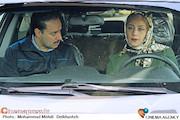 شبنم مقدمی و جواد عزتی در نمایی از فیلم سینمایی اکسیدان