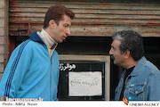 مهران احمدی و بهرام افشاری در نمایی از فیلم سینمایی «کارگر ساده نیازمندیم»