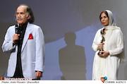 سیروس ابراهیم زاده و همسرش در آیین نکوداشت نوزدهمین جشن خانه سینما