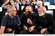 مهدی فقیه، امیرحسین شریفی و پرویز شیخ طادی در تقدیر از هنرمندان عرصه مقاومت و ایثار