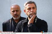 عطاالله سلمانیان و احمد میرعلایی در مراسم تشییع پیکر مرحوم «محمد پورستار»