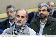 حبیب الله بهمنی در مراسم رونمایی کتاب های «منشور سینما» و «درآمدی بر سینمای استراتژیک»